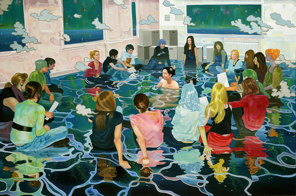 윤상윤 <Big fish in a little pond> oil on canvas, 145cm×97cm, 2010